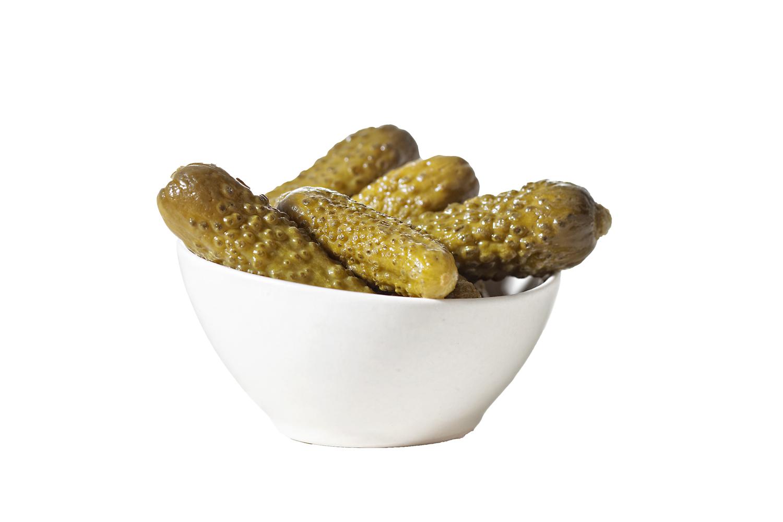Pepinillos y cebolletas dieta