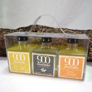 aceite de sabores, trufa bonaca, naranja y AOVE 900 TOP