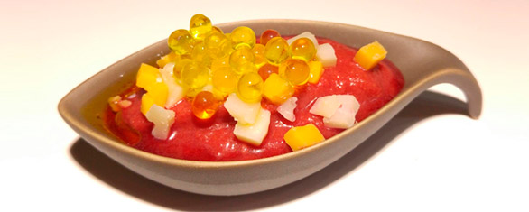 salmorejo caviar aceite
