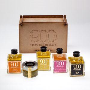 Lote 903 de aceites de sabores 900, vinagre de frambuesa y aceite de oliva de calidad suoerior, caviar de aceite