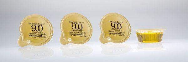 Monodosis tarrina de 10ml, aceite de oliva virgen extra BALANCE 900