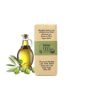 Semilla de olivo y chocolate con aceite de olivo