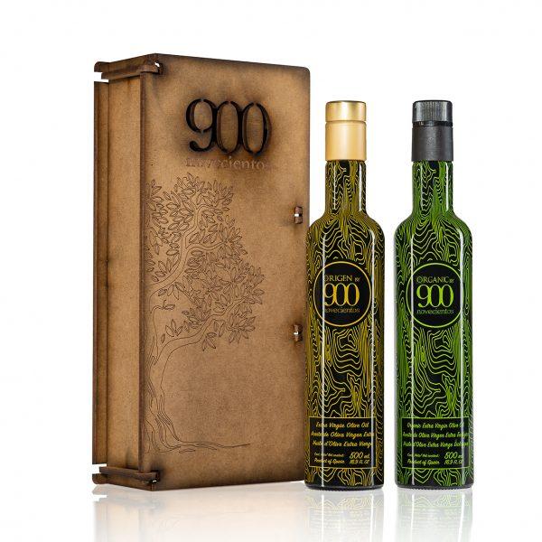 regalar aceite de oliva en envase de madera